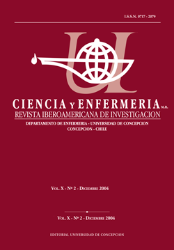 Ciencia y enfermería Volumen X N2