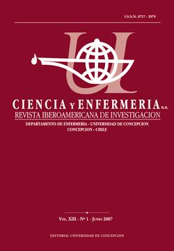 Ciencia y enfermería Volumen XIII N1