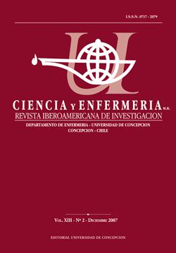 Ciencia y enfermería Volumen XII N2